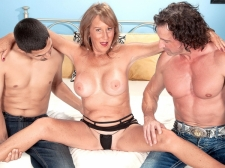 Trisha receives ass-fucked by two boyz and swallows